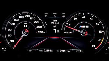 BMW M5 Competition - digital instrument cluster
