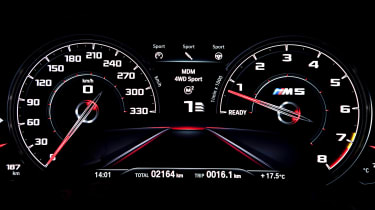 BMW M5 Competition - digital instrument cluster