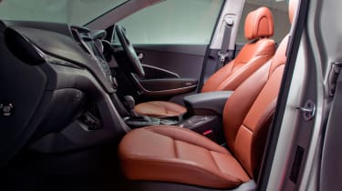 Leather seats are a standard feature too, with several shades to choose from