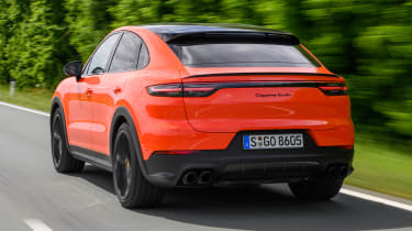 Porsche Cayenne Coupe SUV rear tracking