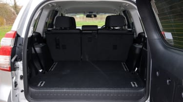 The Land Cruiser's boot is vast with five seats in place