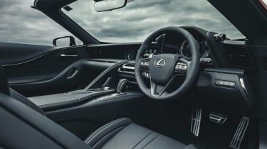 Lexus LC Convertible steering wheel