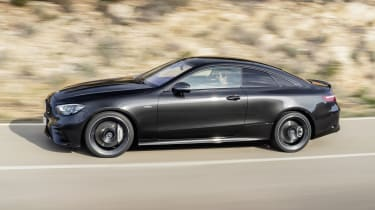 Mercedes-AMG E 53 Coupe driving - side view