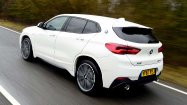 BMW X2 SUV rear 3/4 tracking