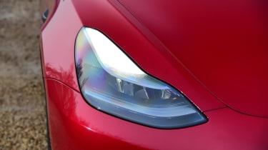 Tesla Model 3 saloon headlights