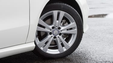 Entry-level models come with 16-inch wheels, but alloys up to 19-inches in diameter are available