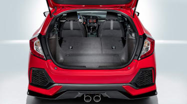 The rear parcel shelf is made of a flexible material, and retracts into a side-mounted cassette to save space