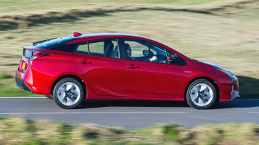 The hybrid Prius can return up to 94mpg, while the plug-in hybrid can achieve a claimed 283mpg