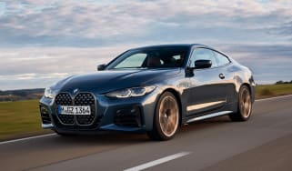 BMW 4 Series coupe front 3/4 tracking