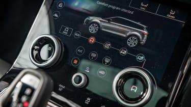 Range Rover Evoque SUV heater controls