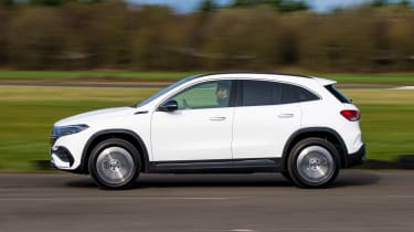 Mercedes EQA SUV review side panning