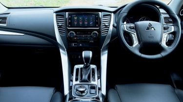 The Shogun Sport interior is well built but lags behind the best in class for luxury and technology