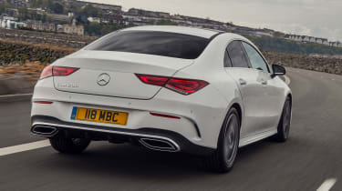 Mercedes CLA saloon rear 3/4 tracking