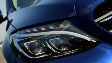 LED headlights are fitted as standard, with adaptive lights an optional extra