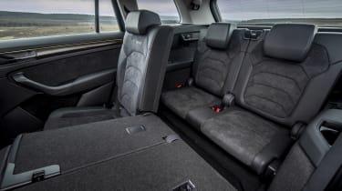 Skoda Kodiaq SUV middle seats folded