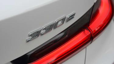 BMW 330e saloon rear lights
