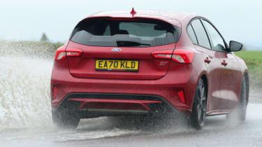 Ford Focus ST hatchback rear water splash