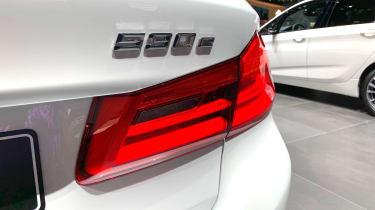BMW 530e badge at the 2019 Geneva Motor Show