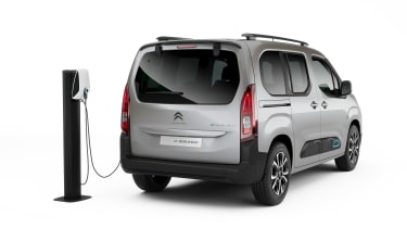 Citroen e-Berlingo charging - rear view
