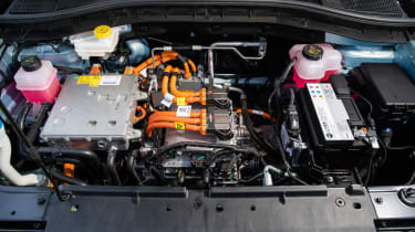 MG ZS EV SUV engine bay