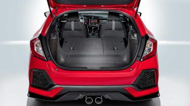 The rear seats drop in true hatchback style.
