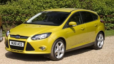 Gold-coloured Ford Focus