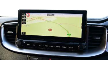 Kia XCeed hatchback infotainment display