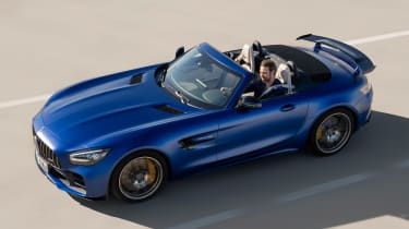 Mercedes-AMG GT R Roadster driving roof down