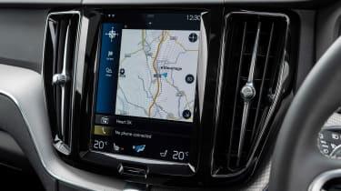 Volvo XC60 SUV infotainment display
