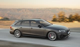 Facelifted Audi A4 Avant Estate - front driving
