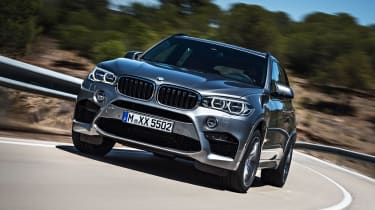 Adaptive M suspension, 20-inch wheels with huge tyres and four-wheel-drive harness its power