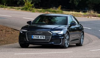 Audi A6 saloon front cornering