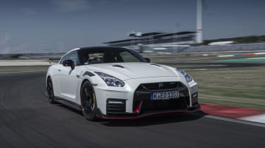 Nissan GT-R Nismo coupe front 3/4 driving