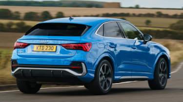 Audi Q3 Sportback SUV - rear 3/4 dynamic