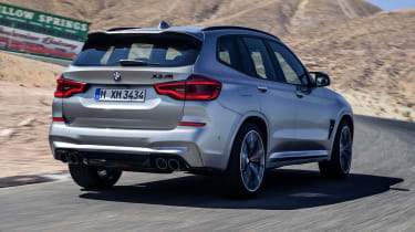 BMW X3 M Competition SUV rear 3/4 on track