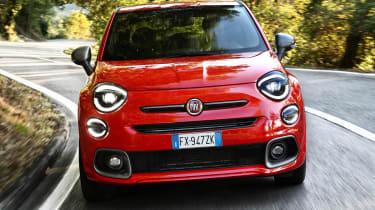 Fiat 500X Sport cornering - front view