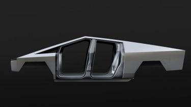 Tesla Cybertruck - side view bodywork