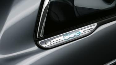 2020 Fiat 500 electric convertible - rear quarter badge