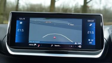 Peugeot 208 hatchback infotainment display