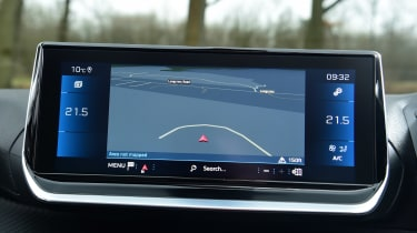 Peugeot 208 hatchback infotainment display