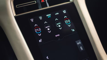 2020 Porsche Taycan - front centre console air conditioning close up