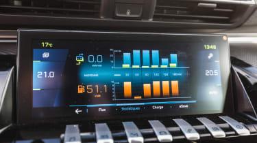 Peugeot 508 HYbrid touchscreen info