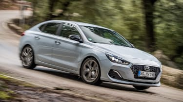 Uprated suspension makes the i30 Fastback competent in corners