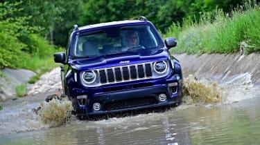 Jeep Renegade wading through water