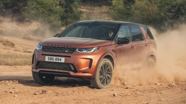 2020 Land Rover Discovery Sport Black off-roading