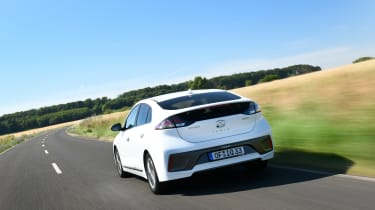 Hyundai Ioniq Plug-in Hybrid driving away from camera
