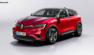 Renault Megane EV render - front 3/4 view