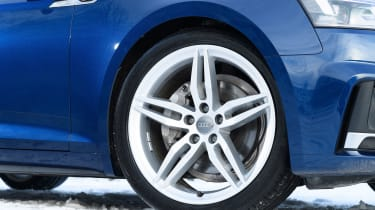 The S line trim comes with 18-inch alloy wheels and stiff suspension - although this can be swapped for free