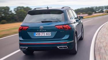 Volkswagen Tiguan SUV rear cornering