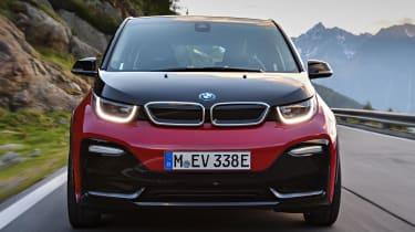 Like the BMW i8 sports car, the BMW i3 hatchback has a radical design